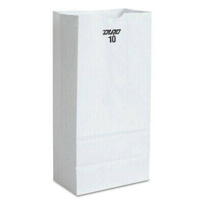 Paper Bags & Sacks #10 Paper Grocery Bag, 35lb White, Standard 6 5/16 X 4 3/16 X