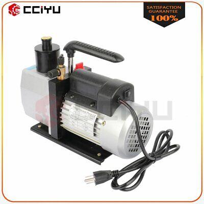 7 Cfm 12 Hp Rotary Vane Deep Vacuum Pump 110v Hvac Ac Refrigerant Charge Black