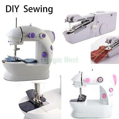 Portable Mini Hand Held Electric Sewing Machine Home Household Sewing Diy Tailor
