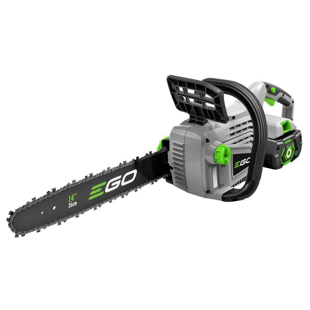 Cordless Chainsaw Kit 14in Bar Chain 56 Volt Lithium Ion Rec