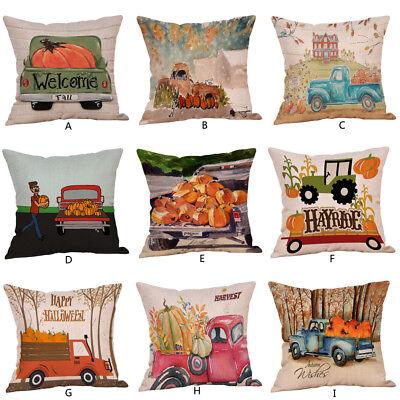 Halloween Pillow Cases  Linen Sofa Pumpkin ghosts Cushion Cover Best Gift