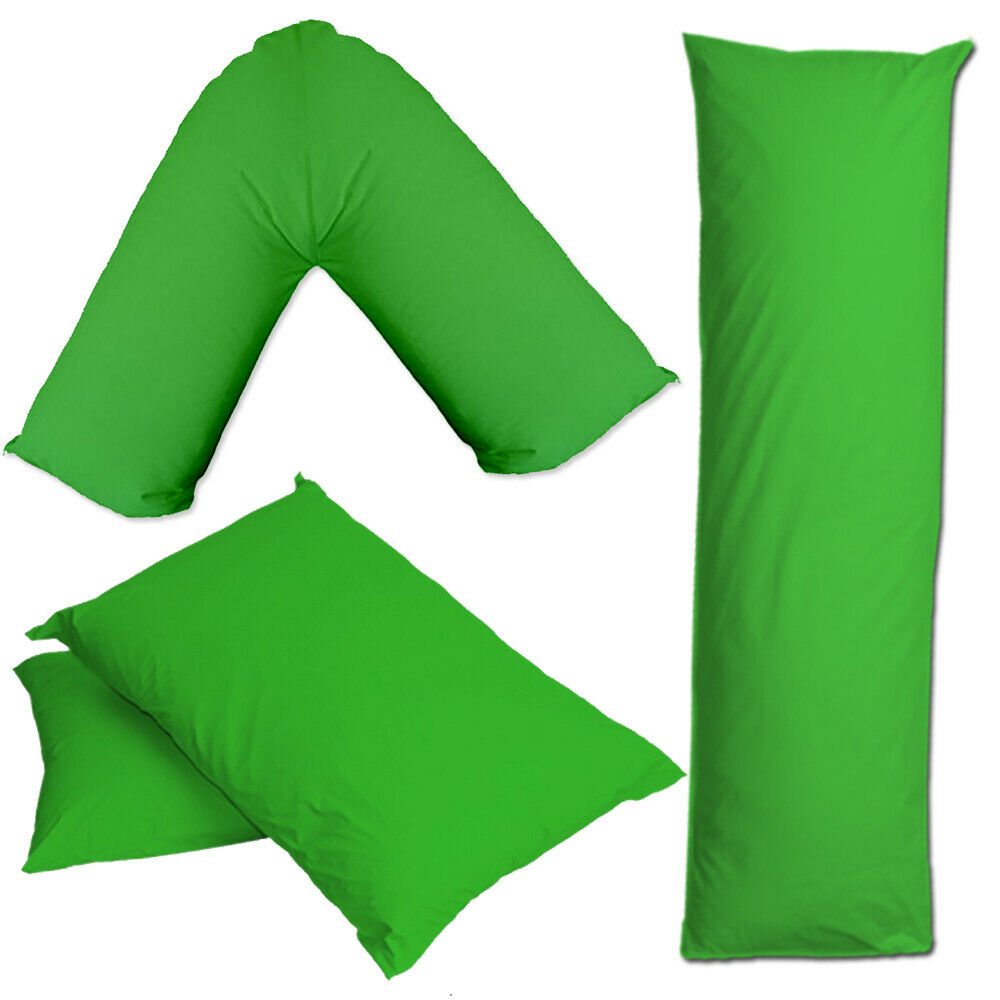 Grass Green Pillow Case Cover V Shape