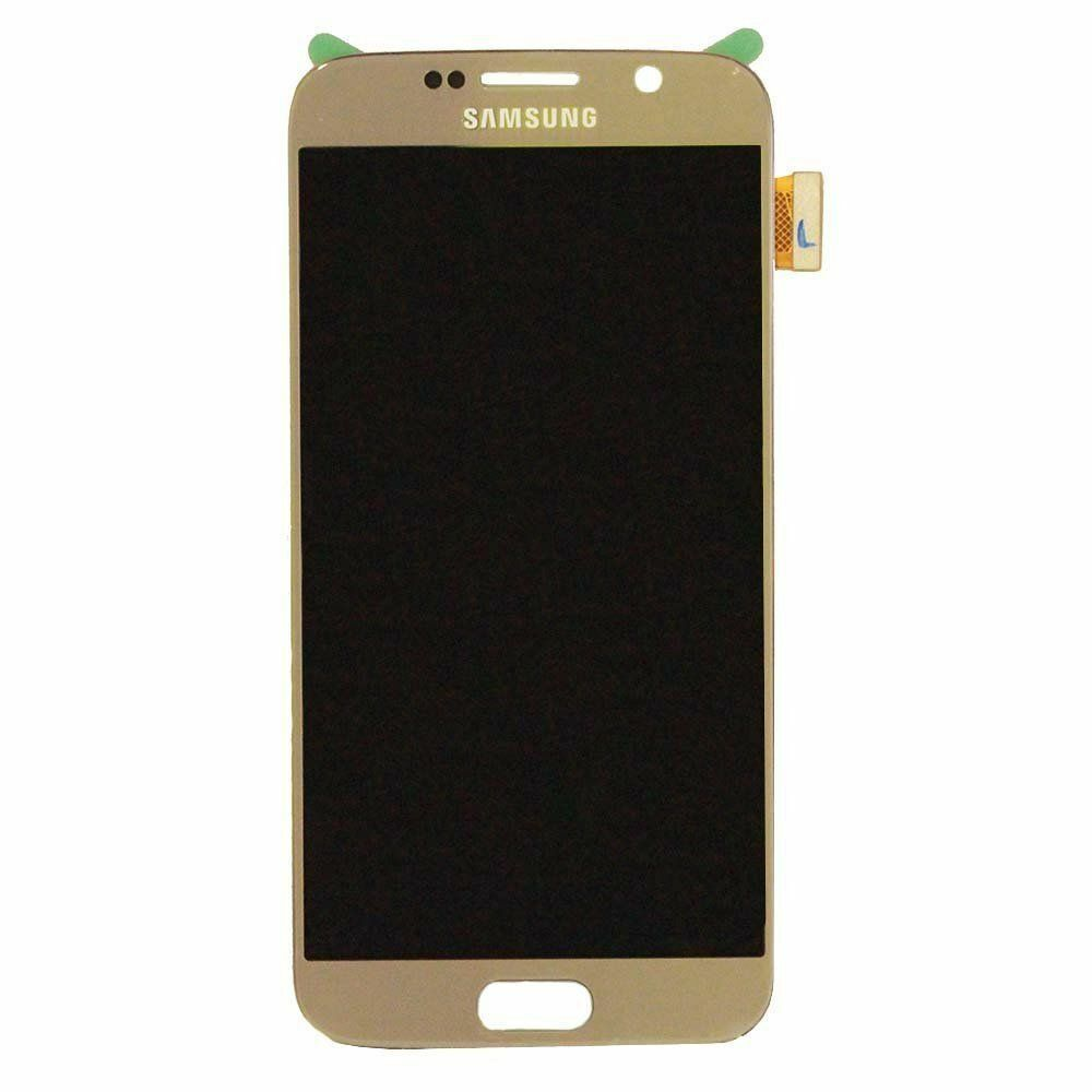Samsung Galaxy S6 LCD Screen Replacement With Frame, Gold, G920