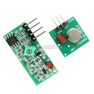 5pcs 433Mhz RF transmitter and receiver kit for Arduino ()