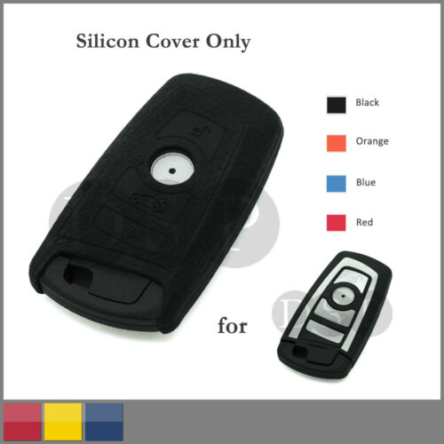 Leather Texture Silicone Cover fit for BMW New 5 Series Smart Key Case 4B 4C BK