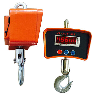 Digital Hanging Scale 500kg 1100lbs Heavy Industrial Crane Scale With Lcd Screen