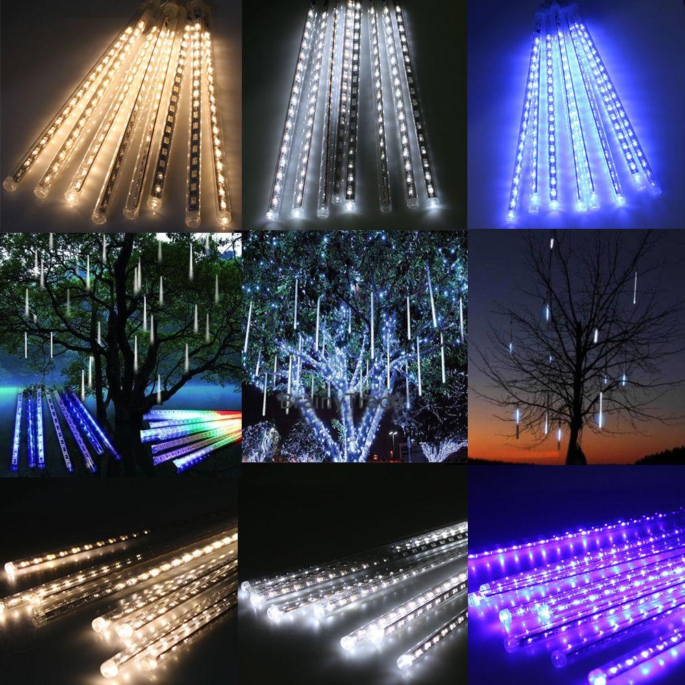 UK 20/30/50cm Meteor Shower Rain LED Fairy Lights String ...