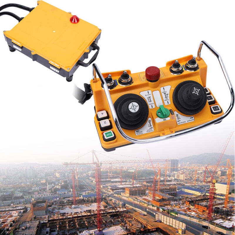 Industrial Crane Remote Control Wireless Transmitter & Receiver Joystick Crane
