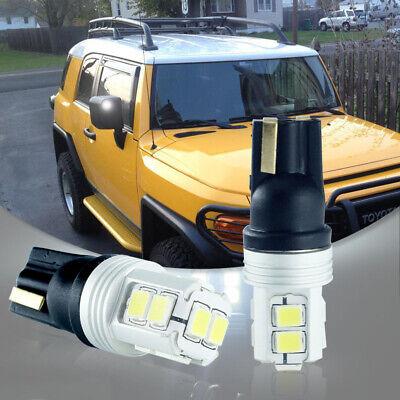 2X Error free White LED Side Mirror Light Bulbs Fit 2007-2014 Toyota FJ Cruiser](White Visors Bulk)