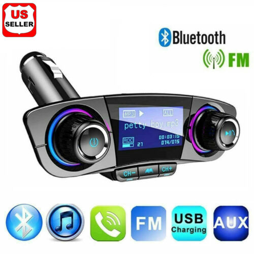 Bluetooth Car FM Transmitter MP3 Player Hands free Radio Adapter Kit USB Charger Consumer Electronics