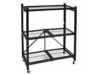 ( BRAND NEW )Origami 3-Tier metal Folding Bookshelf (in black)