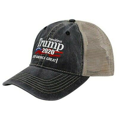 a7c508e04 Trump Hat Keep America Great 2020 Campaign Mesh Hat Adjustable Mens Baseball  Cap