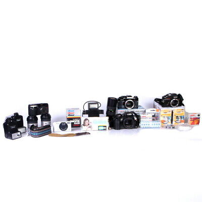 Lot of Assorted 35mm Cameras, Lenses and Accessories Minolta, Konica, Promaster