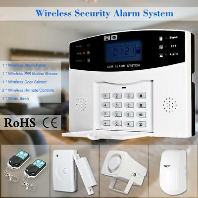 433MHz Wireless GSM SMS Home Burglar Security Alarm System D