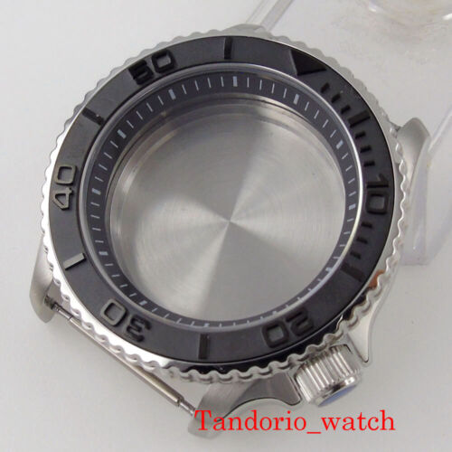 For NH35 NH36 SKX007 Movement 41mm Watch Case Parts Sapphire Glass Steel Insert