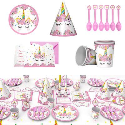 UNICORN Kids Child Birthday Party Tableware Set Paper Box Cup Babyshower Decor (Birthday Cup)