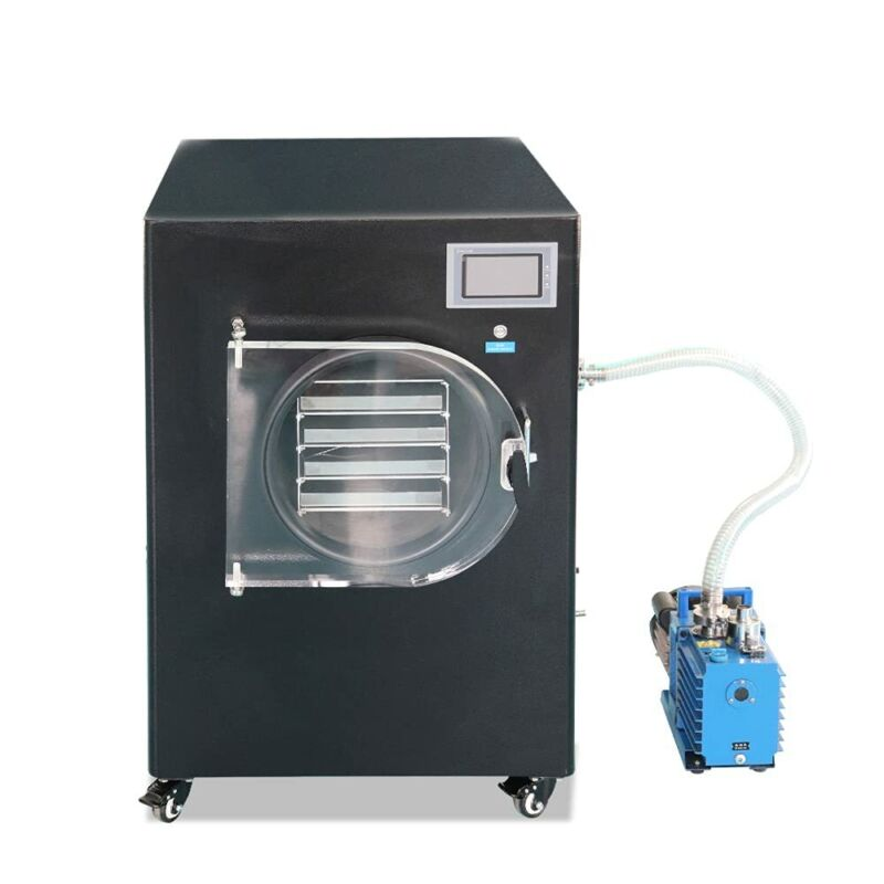 Lab Vacuum Freeze Dryer Lyophilizer Sublimation Drying System with Vacuum Pump
