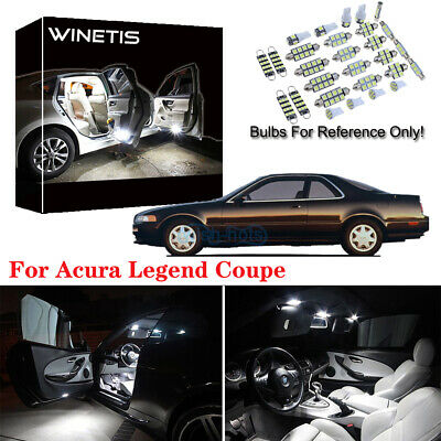 Bulb Legend Coupe (13x White LED Replacement Light Interior Bulb Package For Acura Legend Coupe  )