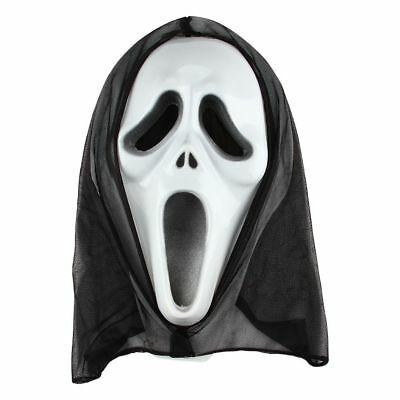 Scream Scary Ghost Face Fancy Dress Costume Mask Cosplay Costume Halloween Party (Scream Halloween Party)