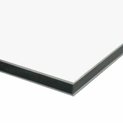 Aluminum Composite Sheet 0.118 3mm X 24 Inches X 36 Inches Matte White
