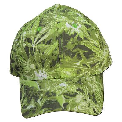 Canouflage Gear Hemp Field Baseball Cap - Camouflage Cannabis Weed