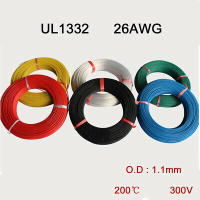 UL 1332 26AWG Teflon Stranded Electronic Wire FEP Insulation Tinned Copper Cable