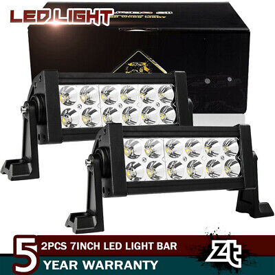 2pcs 8inch 12v 72w Led Work Light Bar Spot Pods Driving Off-road Tractor Truck