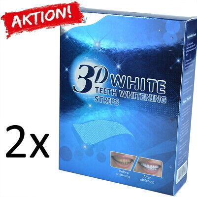 2x Zahnweiß Zahnaufhellung Streifen 3D Whitestrips Weiss Zähne - Zähne Zähne