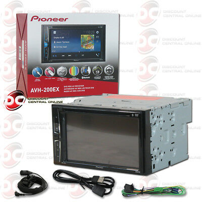 "NEW PIONEER CAR DOUBLE DIN 6.2"" TOUCHSCREEN USB DVD CD BLUETOOTH STEREO"