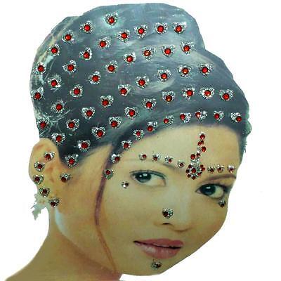 Indisch selbstklebend Haarschmuck Haar Hair Face Sticker Body Art Décor Bindis
