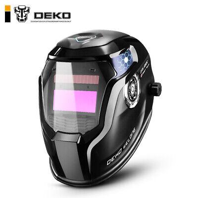 Deko Auto Darkening Hood Adjustable 49-13 For Mig Tig Arc Welding Helmet Mask