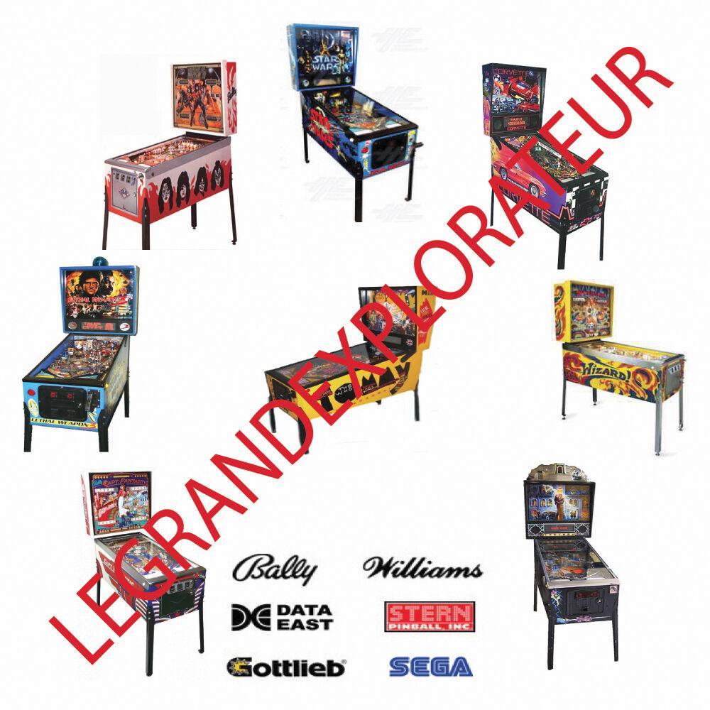 good original Williams DEMOLITION MAN Pinball Machine flyer-Opens Up too