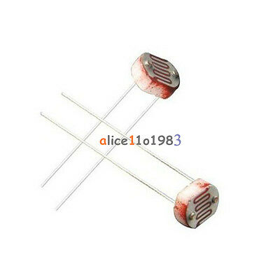 20pcs Photo Light Sensitive Resistor Photoresistor Optoresistor 5mm Gl5549