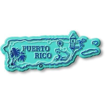 Puerto Rico United States Territory Map Fridge Magnet Magnetic Map United States