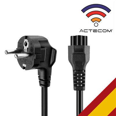 ACTECOM Cable de alimentación con 3 Clavijas para Ordenador portátil C5