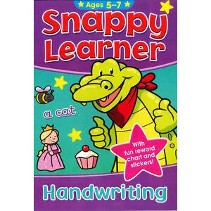 SNAPPY LEARNER HANDWRITING EDUCATIONAL SCHOOL BOOK & REWARD CHART FOR 5-7yo