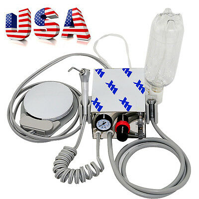 Usa Portable Dental Turbine Unit Work With Air Compressor 4 Hole Triplex Syringe