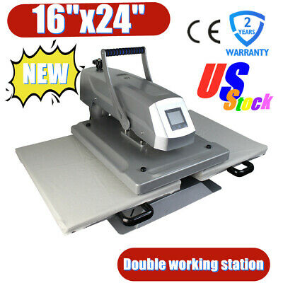 Us 16 X 24 Manual Dual Platen Sublimation Heat Press Machine For T-shirt Cloth