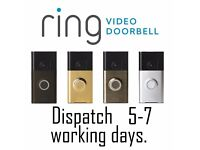 Ring Video Doorbell / Stick Up Cams Wi-Fi Enabled - Multiple Colours