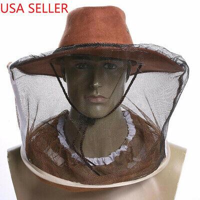 Beekeeping Beekeeper Cowboy Hat Bee Net Veil Face Head Protector Bee Mesh Cap Us