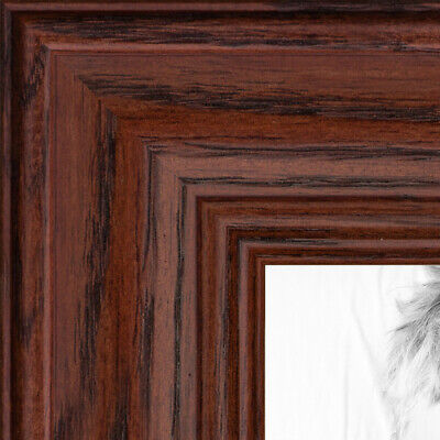ArtToFrames Custom Picture Poster Frame Red Cherry Stain on Oak 1.25