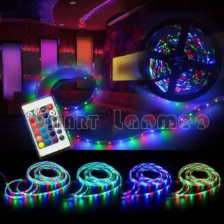 5M RGB LED Strip Light Party Christmas Colour Waterproof DC 12V Miranda Sutherland Area Preview