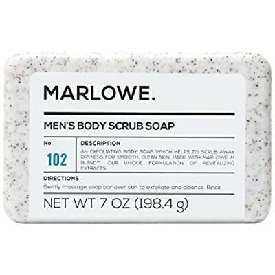 MARLOWE. No. 102 Men's Body Scrub Soap 7 Oz Best Exfoliating Bar Made (Best Natural Body Soap Bar)