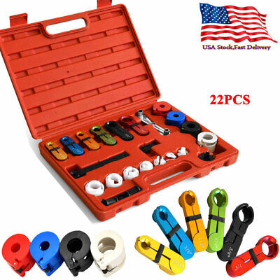 22pc Fuel Air Conditioning& A C Transmission Oil Cooler Line Disconnect Tool Set