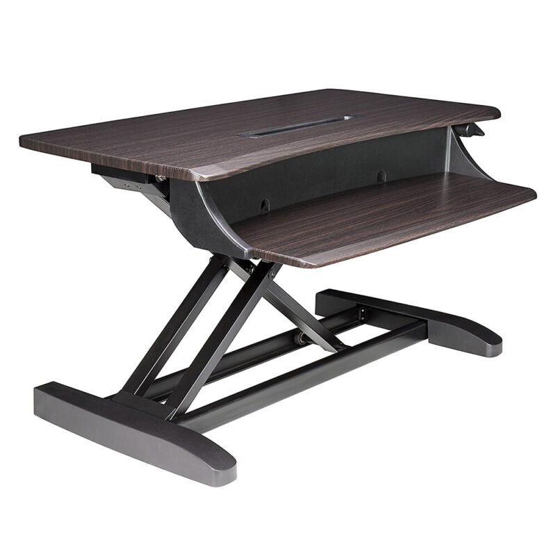 Ergotron 33-460-916 Compact Sitting to Standing Desk Converter, Chocolate Finish