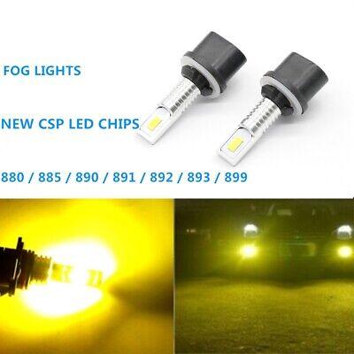 2x 55W 880 CSP LED Fog Lights Bulbs for Chevy Tahoe 2000-2006 3000K