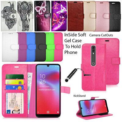 For Vodafone Smart V10 VDF730 Phone Case Wallet Leather Cover Book Flip + Stylus