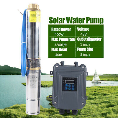 3 48v Solar Power Water Pump Farm Ranch Dc Submersible Bore Hole Deep Well 400w