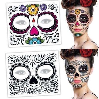 2PCS Beauty Day Of The Dead Dia de los Muertos Face Mask SUGAR SKULL TATTOO (Day Of The Dead Tattoos)