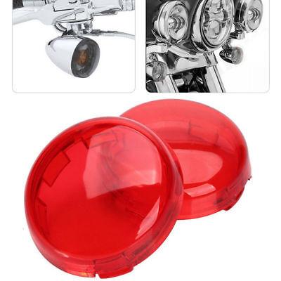 2Pcs Turn Signal Light Cover Lens for Harley Davidson Dyna Sportster V-Rod Red 2009 Harley Davidson Rocker